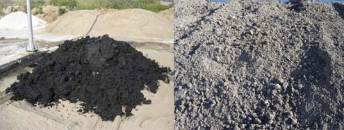Πριν και μετά τη Βιοεξυγίανση αφυδατωμένης λάσπης πετρελαιοειδών